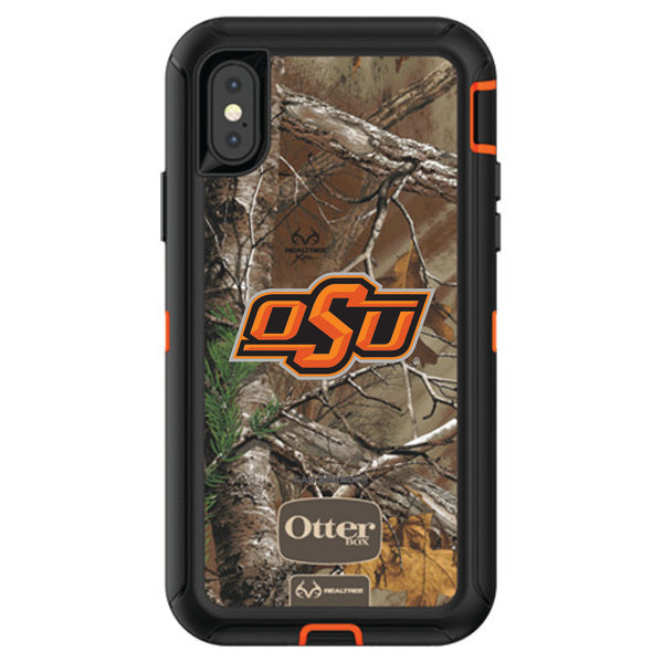 OtterBox RealTree Defender Series Phone case with Oklahoma State Cowboys Primary Logo