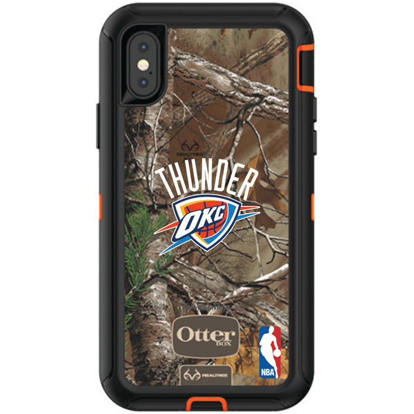 OtterBox RealTree Defender Series Phone case with Oklahoma City Thunder Primary Logo