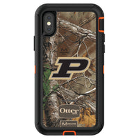 OtterBox RealTree Defender Series Phone case with Purdue Boilermakers Primary Logo