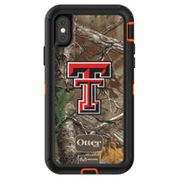 OtterBox RealTree Defender Series Phone case with Texas Tech Red Raiders Primary Logo