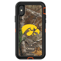 OtterBox RealTree Defender Series Phone case with Iowa Hawkeyes Primary Logo