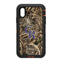 OtterBox RealTree Defender Series Phone case with Colorado Rockies Primary Logo