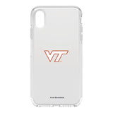 OtterBox clear Phone case with Virginia Tech Hokies Primary Logo