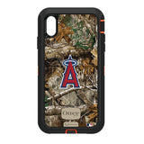 OtterBox RealTree Defender Series Phone case with Los Angeles Angels Primary Logo