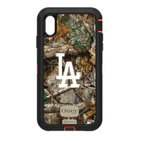 OtterBox RealTree Defender Series Phone case with Los Angeles Dodgers Primary Logo