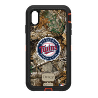 OtterBox RealTree Defender Series Phone case with Minnesota Twins Primary Logo
