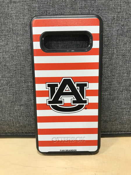 Auburn Tigers OtterBox phone case with stripes