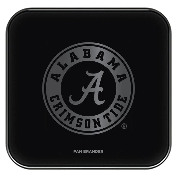 Fan Brander Fast Charging Wireless Charger with Alabama Crimson Tide laser etched Primary Logo