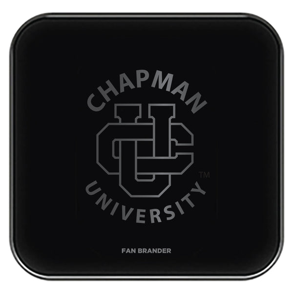 Fan Brander Fast Charging Wireless Charger with Chapman Univ Panthers laser etched Primary Logo
