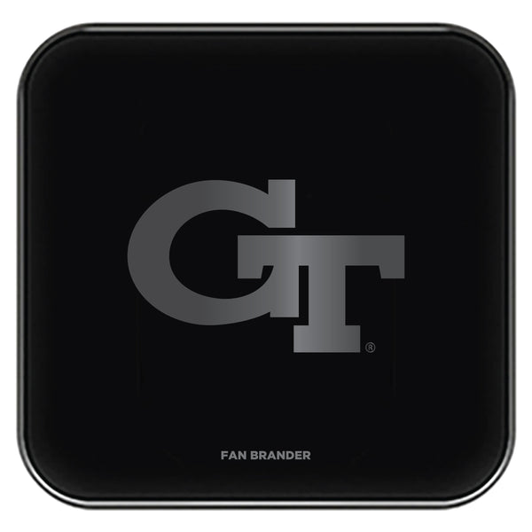 Fan Brander Fast Charging Wireless Charger with Georgia Tech Yellow Jackets laser etched Primary Logo