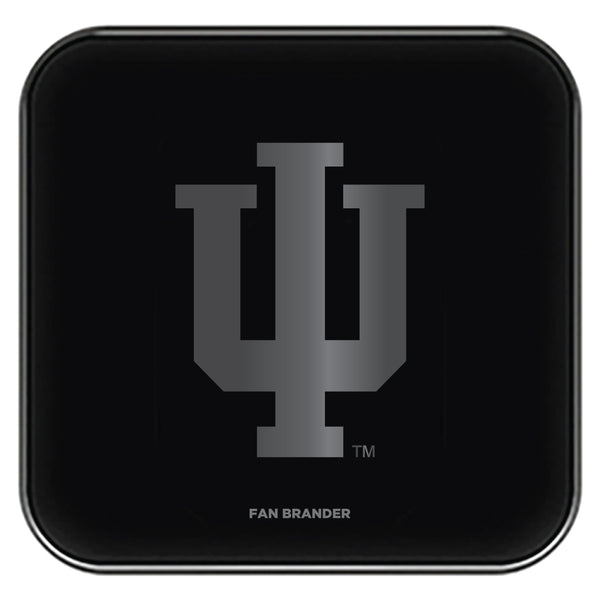 Fan Brander Fast Charging Wireless Charger with Indiana Hoosiers laser etched Primary Logo