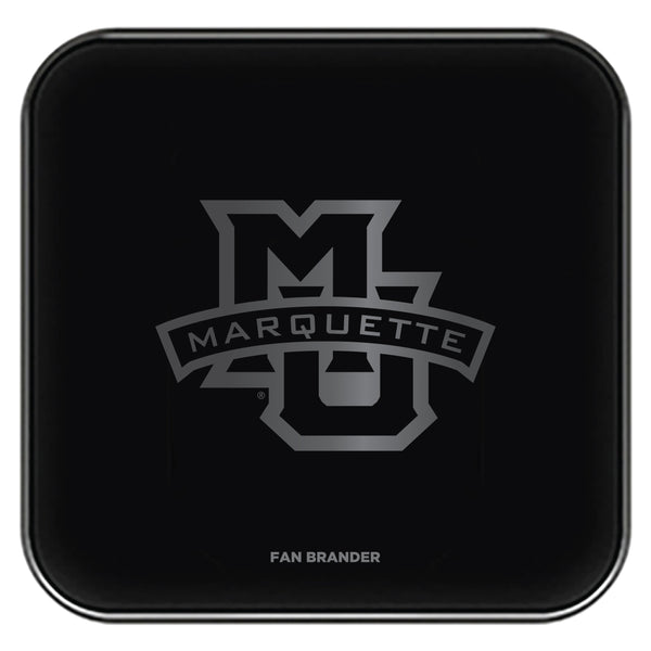 Fan Brander Fast Charging Wireless Charger with Marquette Golden Eagles laser etched Primary Logo
