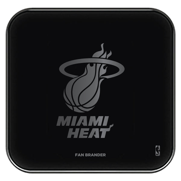 Fan Brander Fast Charging Wireless Charger with Miami Heat laser etched Primary Logo