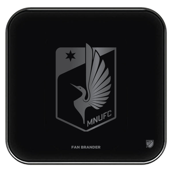 Fan Brander Fast Charging Wireless Charger with Minnesota United FC laser etched Primary Logo