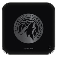 Fan Brander Fast Charging Wireless Charger with Minnesota Timberwolves laser etched Primary Logo