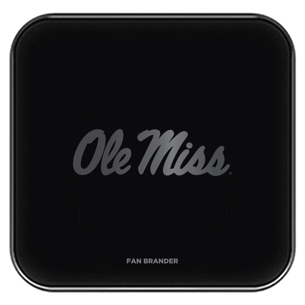 Fan Brander Fast Charging Wireless Charger with Mississippi Ole Miss laser etched Primary Logo