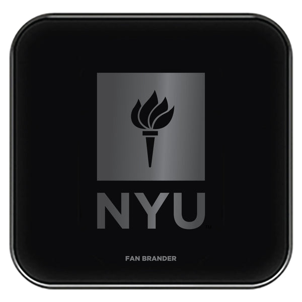 Fan Brander Fast Charging Wireless Charger with NYU laser etched Primary Logo