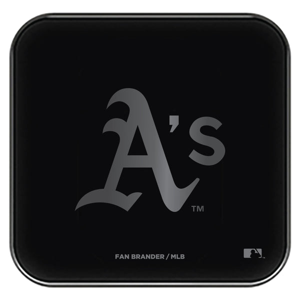 Fan Brander Fast Charging Wireless Charger with Oakland Athletics laser etched Primary Logo