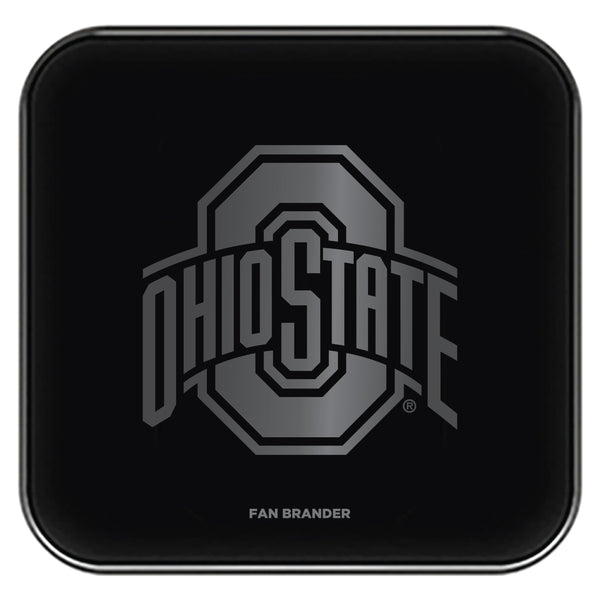 Fan Brander Fast Charging Wireless Charger with Ohio State Buckeyes laser etched Primary Logo