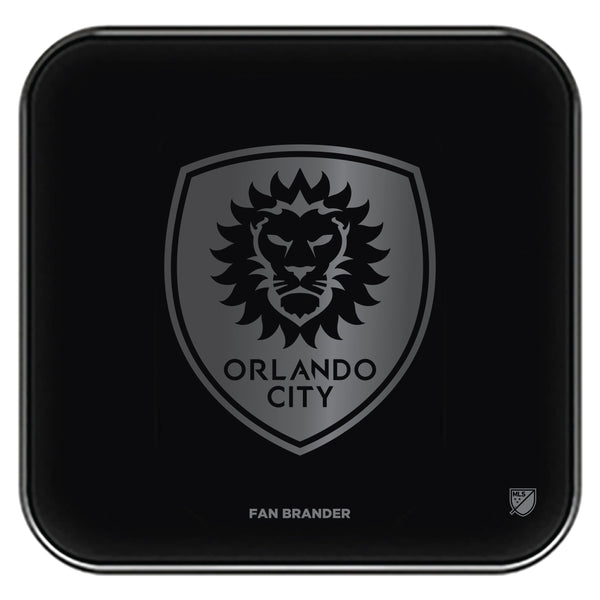 Fan Brander Fast Charging Wireless Charger with Orlando City SC laser etched Primary Logo