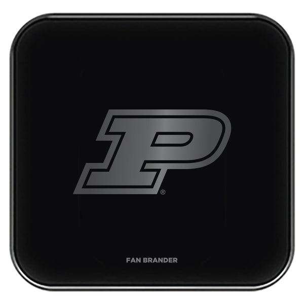 Fan Brander Fast Charging Wireless Charger with Purdue Boilermakers laser etched Primary Logo