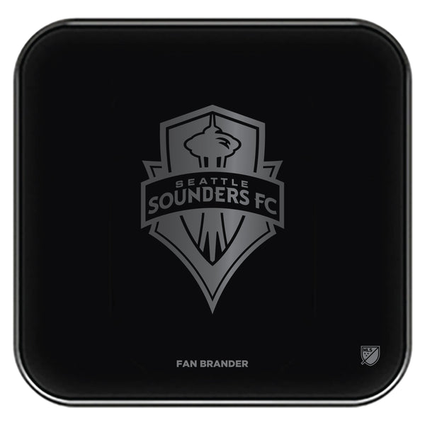 Fan Brander Fast Charging Wireless Charger with Seatle Sounders laser etched Primary Logo