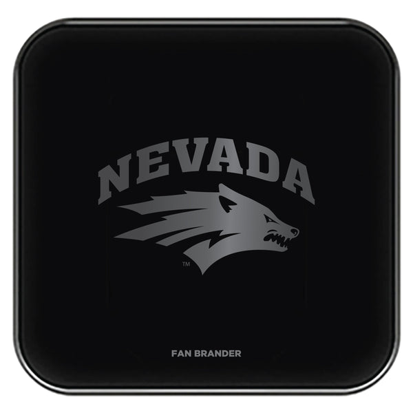 Fan Brander Fast Charging Wireless Charger with Nevada Wolf Pack laser etched Primary Logo