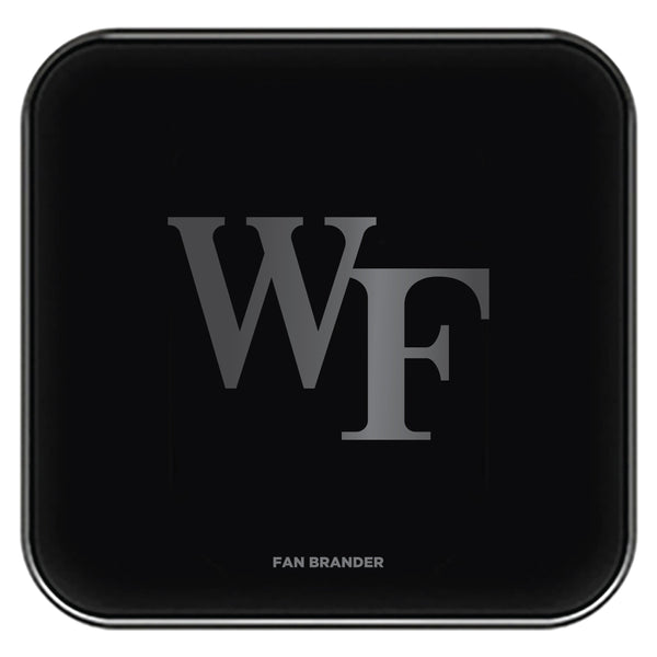 Fan Brander Fast Charging Wireless Charger with Wake Forest Demon Deacons laser etched Primary Logo