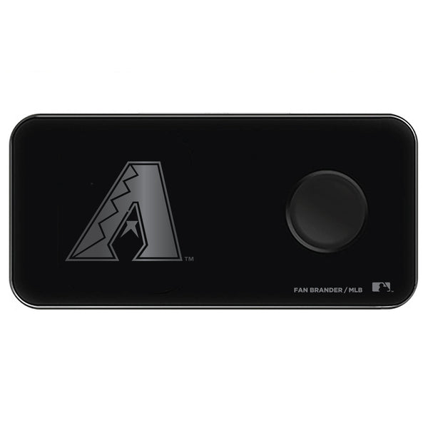 Fan Brander 3 in 1 Glass Wireless Charger with Arizona Diamondbacks laser etched Primary Logo