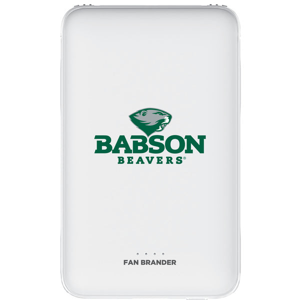 Fan Brander 10,000 mAh Portable Power Bank with Babson University Primary Logo
