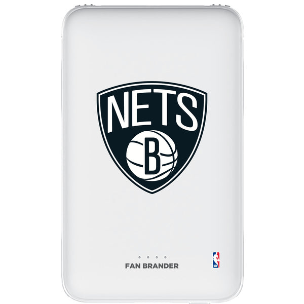 Fan Brander 10,000 mAh Portable Power Bank with Brooklyn Nets Primary Logo