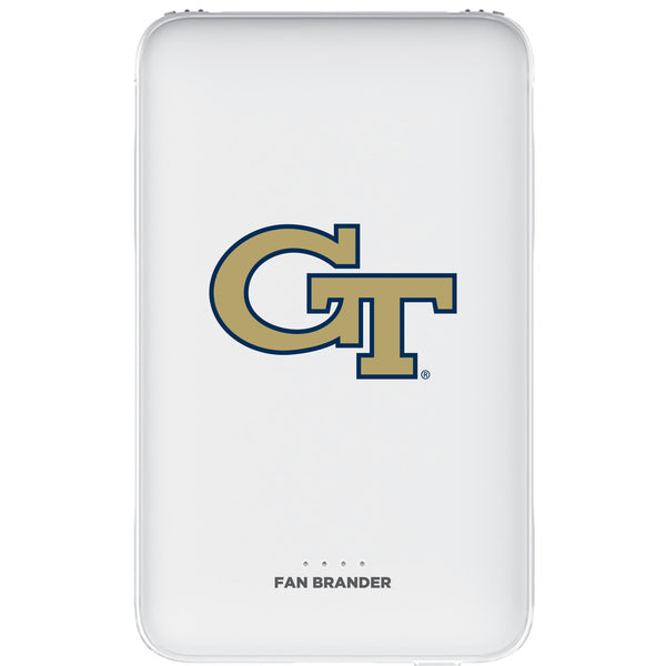 Fan Brander 10,000 mAh Portable Power Bank with Georgia Tech Yellow Jackets Primary Logo