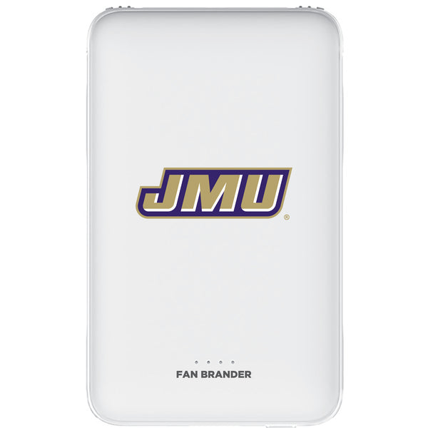 Fan Brander 5,000 mAh Portable Power Bank with James Madison Dukes Primary Logo