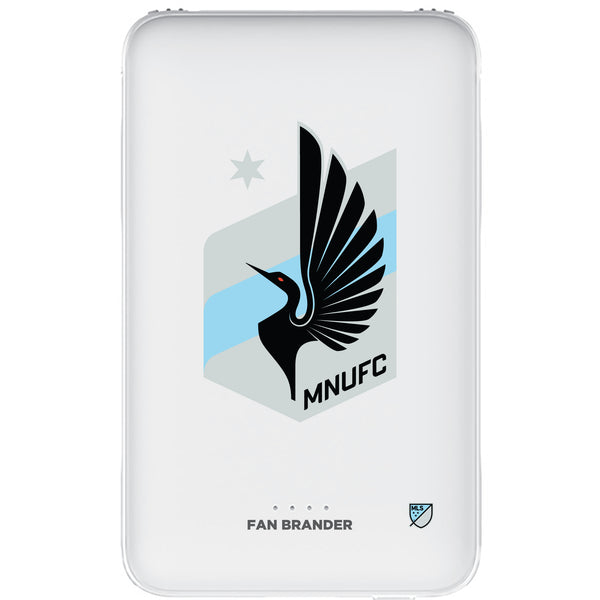 Fan Brander 10,000 mAh Portable Power Bank with Minnesota United FC Primary Logo