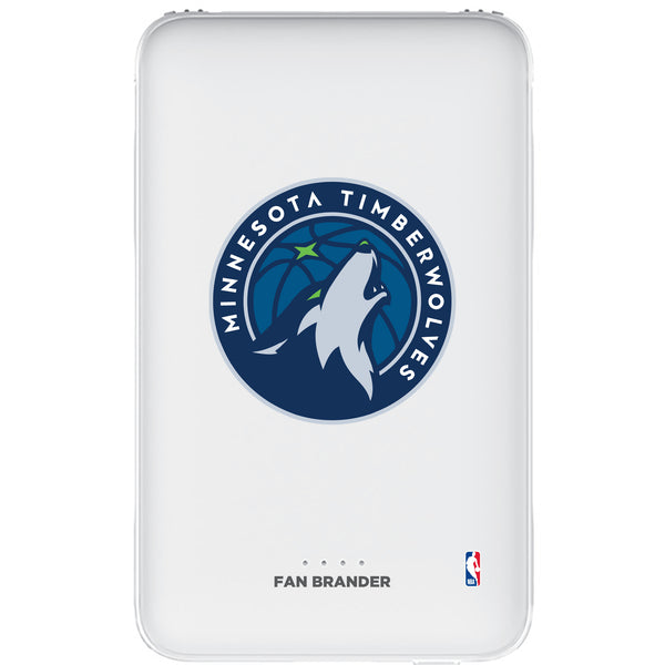 Fan Brander 10,000 mAh Portable Power Bank with Minnesota Timberwolves Primary Logo