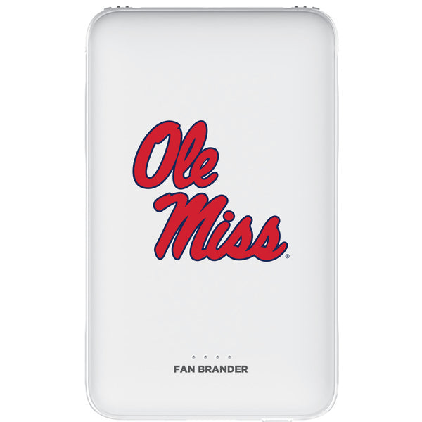 Fan Brander 10,000 mAh Portable Power Bank with Mississippi Ole Miss Primary Logo