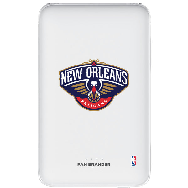 Fan Brander 10,000 mAh Portable Power Bank with New Orleans Pelicans Primary Logo