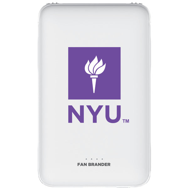 Fan Brander 10,000 mAh Portable Power Bank with NYU Primary Logo