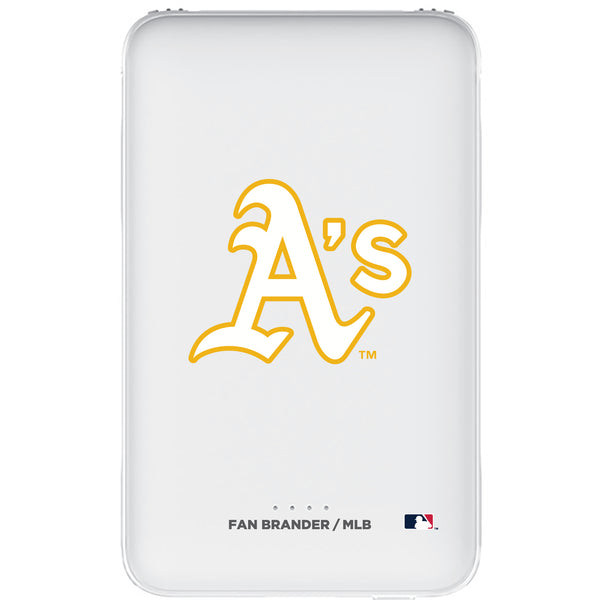 Fan Brander 10,000 mAh Portable Power Bank with Oakland Athletics Primary Logo