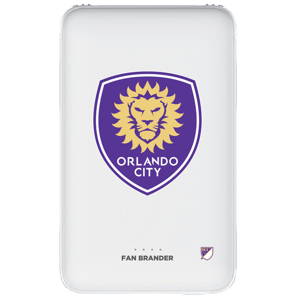 Fan Brander 10,000 mAh Portable Power Bank with Orlando City SC Primary Logo