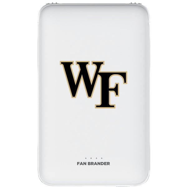 Fan Brander 10,000 mAh Portable Power Bank with Wake Forest Demon Deacons Primary Logo