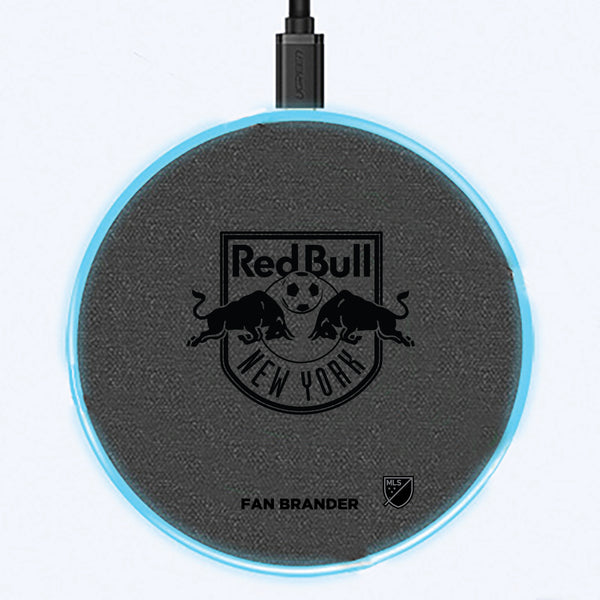 Fan Brander Grey 15W Wireless Charger with New York Red Bulls laser etched Primary Logo