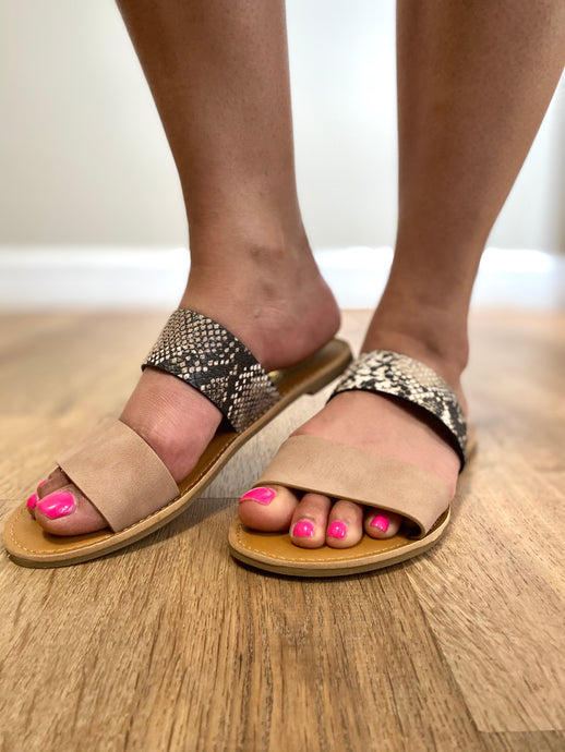Two Strap Mix Match Sandal