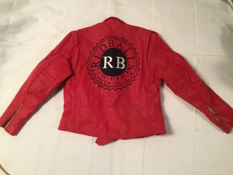 Moto Jacket Red Balls Logo Red