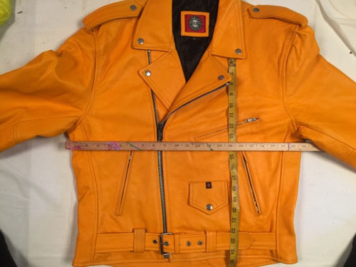 Moto Jacket Red Balls NO Logo Orange