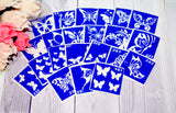buy temporary tattoo stencils Kit #15 Butterflies- 2