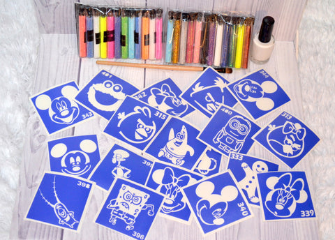 buy temporary tattoo stencils Kit #3 Сartoon characters