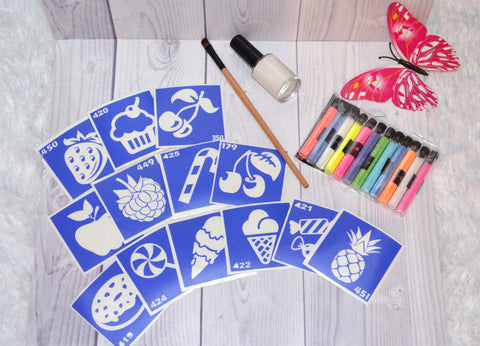 buy temporary tattoo stencils Kit #8 Candy