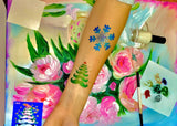 buy temporary tattoo stencils Kit #14 Merry Christmas