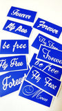 buy temporary tattoo stencils Kit #17 Stencils lettering - NM